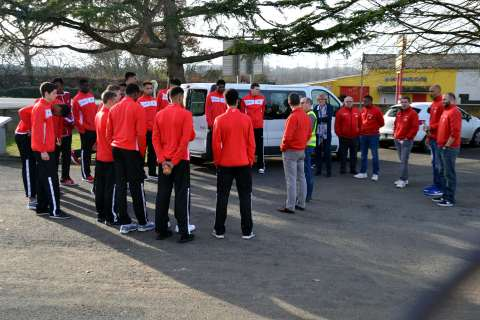 Visite de l'entreprise Gautier par l'Académie Gautier Cholet Basket 07-12-16