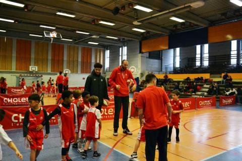 Entrainement de l'école de basket de l'Association Cholet Basket