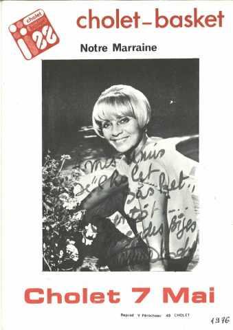 PHOTOS D'ANNIE CORDY, LA MARRAINE DE CHOLET BASKET 75-76