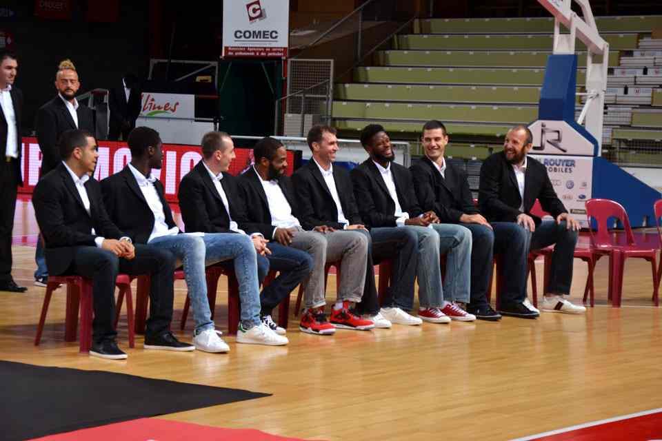 Les joueurs de Cholet Basket