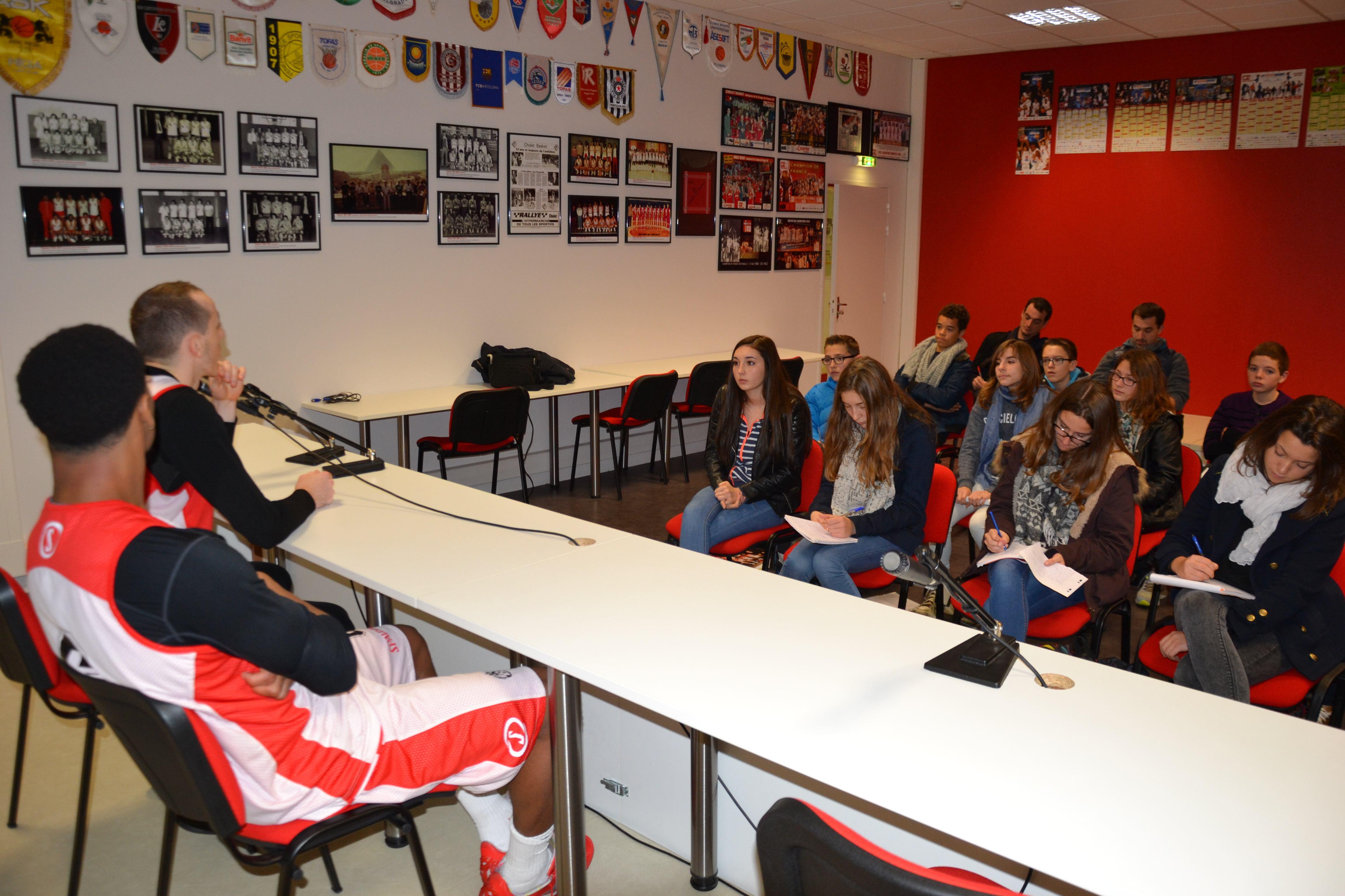 Visite de la Meilleraie par des collégiens du Collège Vallée du Lys à Vihiers.